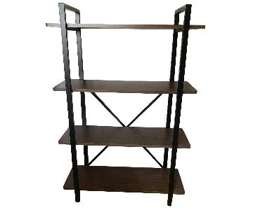 Wood & Metal Shelving Unit