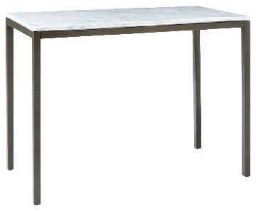 West Elm Marble Box Frame Table