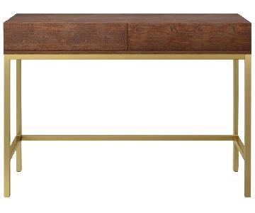 Target Project 62 Wood & Matte Gold Desk
