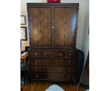 Wood 2-Piece Armoire