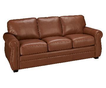 Palliser Leather Sleeper Sofa