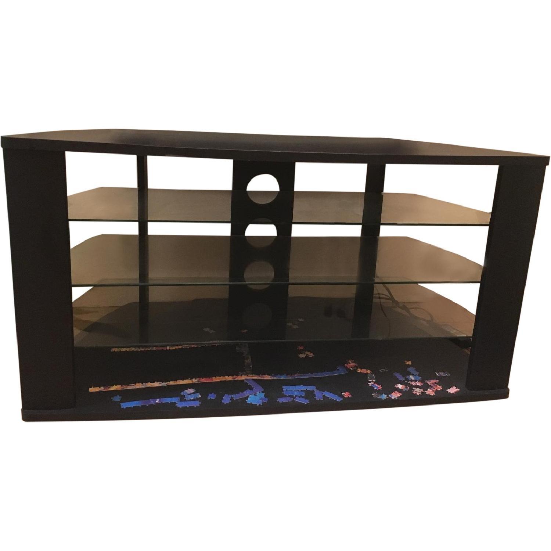 Black & Glass TV Stand