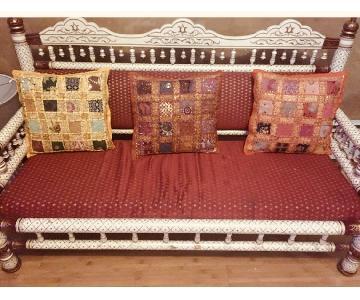 Handmade Indian Wood Frame Sofa
