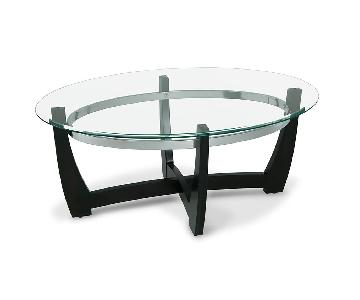 Bob's Glass Coffee Table + 1 End Table