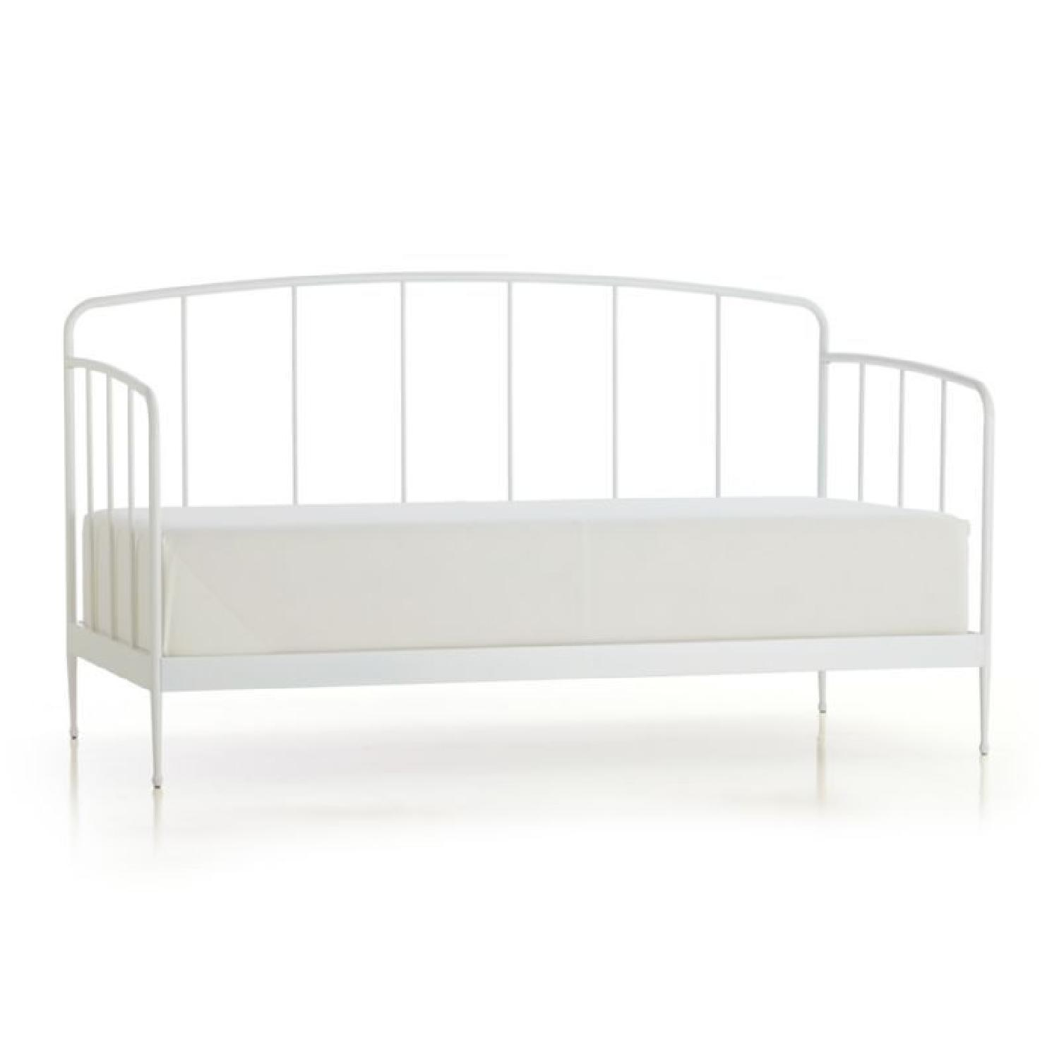 Crate & Barrel White Metal Twin Size Daybed
