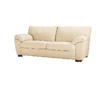 Ikea Vreta Leather Sofa