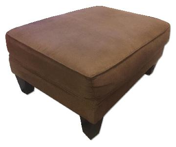 Pier 1 Brown Microsuede Large Ottoman