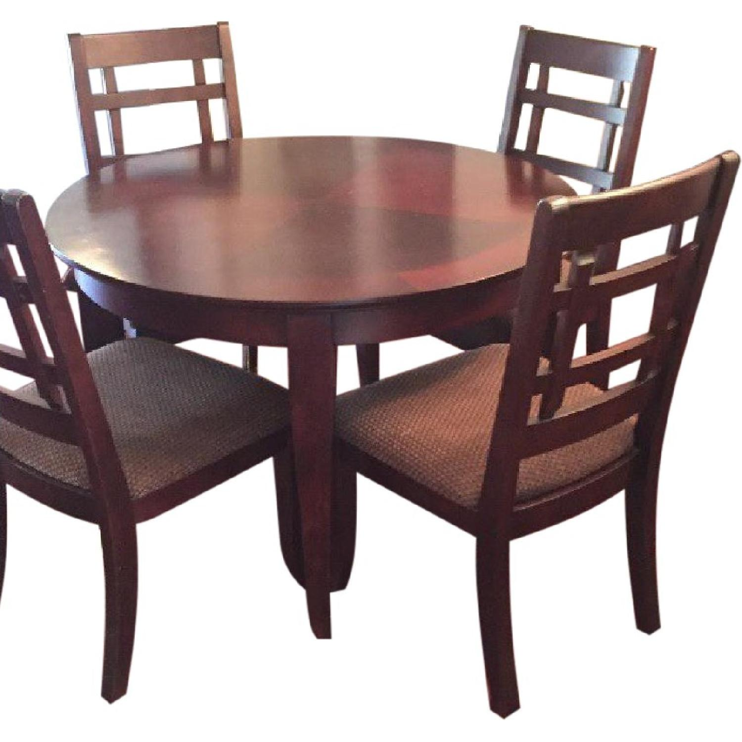 Ashley S Solid Wood Dining Table W 4 Chairs China Cabinet Aptdeco
