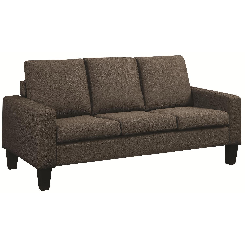 Sofa in Grey Linen Fabric
