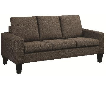 Sofa in Grey Linen Fabric