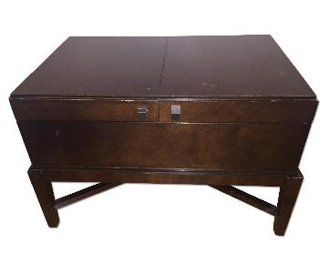 Thomasville Solid Wood Coffee Table w/ Storage in Cherry Finish