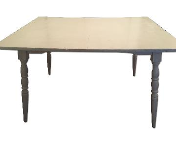 Hand Painted White Rustic Dining Table