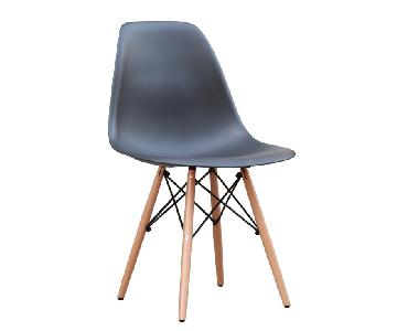 Classic Retro Style Black Dining Chairs w/ Wood Legs
