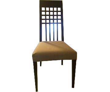 Calligaris Wood Frame Chairs w/ Cushioned Fabric Seat
