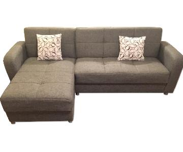 Istikbal Vision Sectional Sofa in Diego Grey