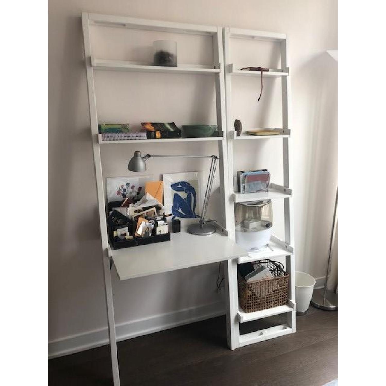 Crate & Barrel Sloane Leaning Desk & Bookshelf-0