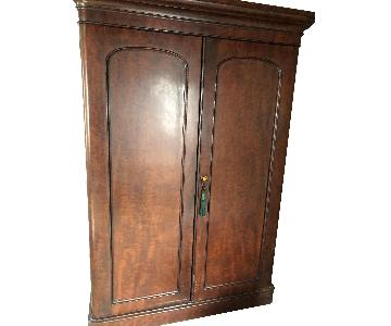 English Victorian Mahogany Armoire