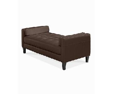 Macy's Chateau D'ax Milan Brown Leather Daybed