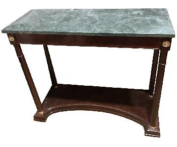 Vintage Green Marble Console Table