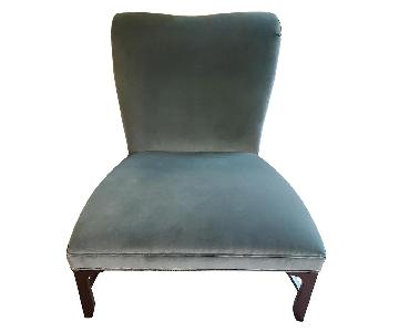 Baker Furniture Sapphire Green Accent Chairs