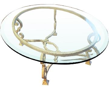 French Country Glass Coffee Table