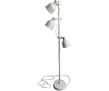 Beige Floor Lamp w/ 3-Spots & LED Bulbs