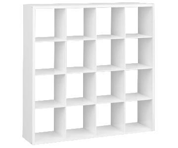Target White 16-Cube Shelf
