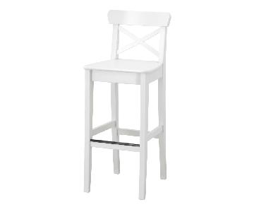 Ikea Ingolf Bar Stool w/ Backrest