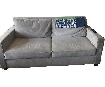 West Elm Henry 2-Seater Velvet Sofa