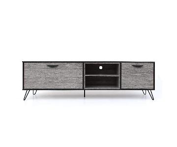 Isabella Mid Century Modern Grey Oak Finish TV Stand
