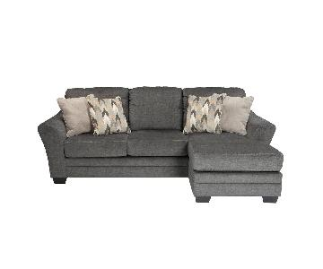 Jennifer Convertibles Bowie Sleeper Chaise Sectional Sofa