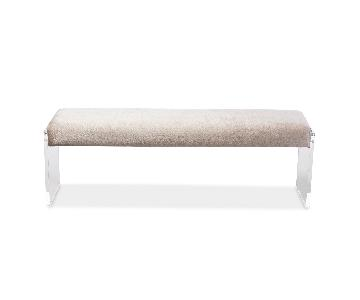 Fabric & Acrylic Bench
