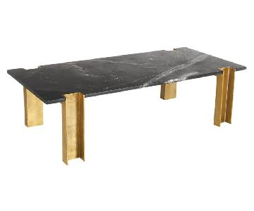 CB2 Alcide Rectangular Black Marble Coffee Table