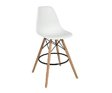 Mod Made Mid Century White Bar Stools