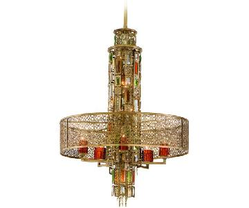 Corbett Lighting Riviera Brass 10 Light Chandelier