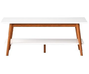 Target White Mid Century Modern Coffee Table