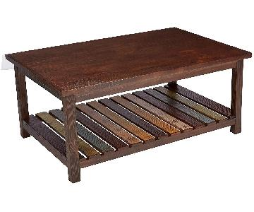 Ashley Rustic Brown Coffee Table
