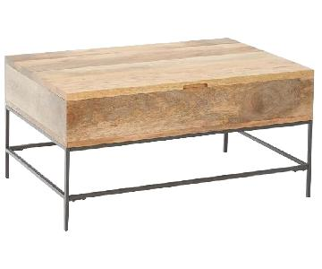 West Elm Industrial Wood Coffee Table