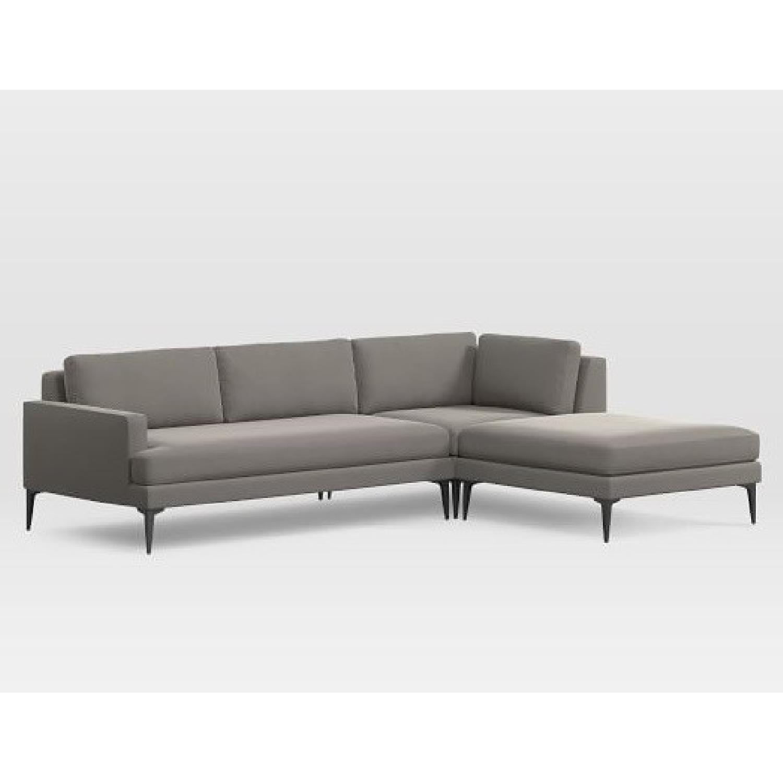 West Elm Andes 3-Piece Sectional Sofa - AptDeco