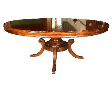 Traditional Round Mahogany Pedestal Dining Table