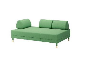 Ikea Flottebo Sleeper Sofa in Lysed Green
