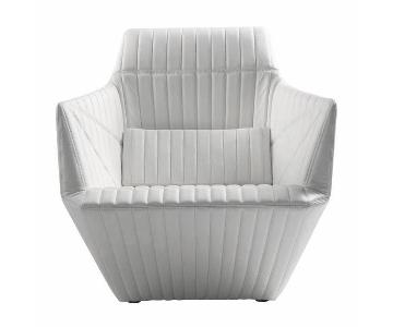 Ligne Roset White Armchairs