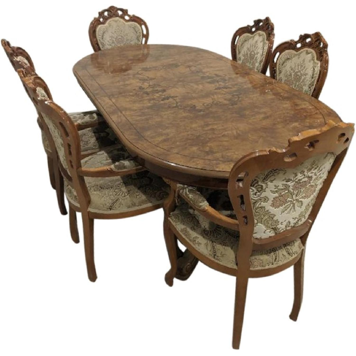 Rustic Dining Table w/ 6 Chairs