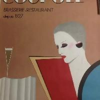 Vintage Signed Razzia French Poster - La Coupole Brasserie