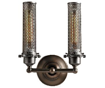Restoration Hardware Edison Perforated Metal Double Sconce