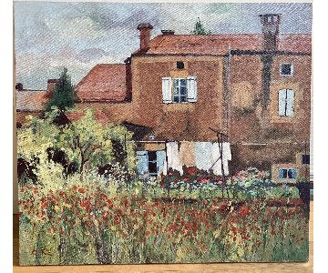 Robert de Vee Impressionist Country House Painting