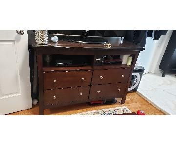 Bob's Solid Wood TV Stand w/ Glass top