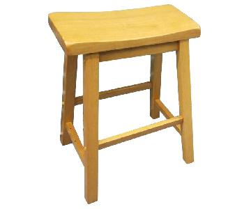 Wood Bar Height Table w/ 4 Stools