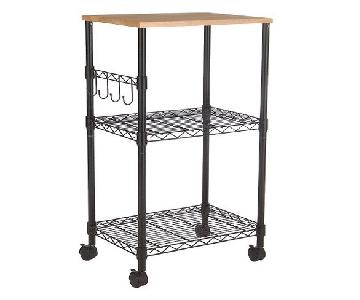 Target Wood-Top Rolling Kitchen Storage Unit