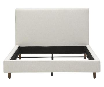 Living Spaces Dean Sand Upholstered Panel Bed